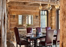 Formal dining room with rustic elegance