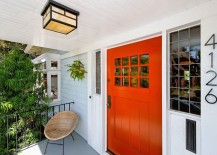 Front enrance with an orange door 217x155 10 Easy Home Improvements for a Fresh Start