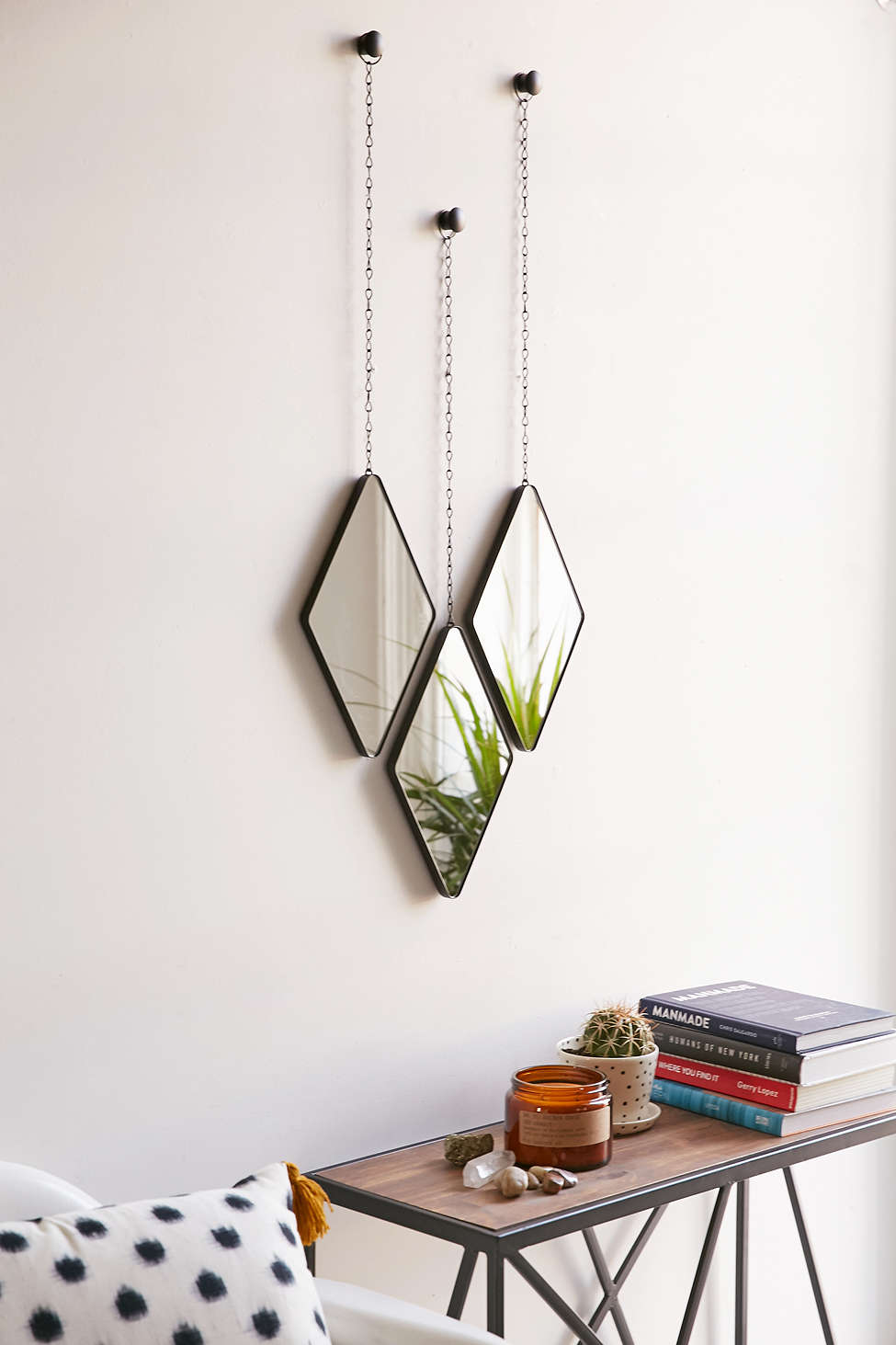 View In Gallery Geo Hanging Mirror Set From Urban Outfitters