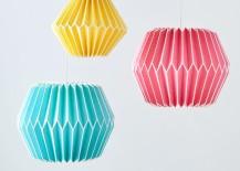 Geo paper lanterns from PB Teen