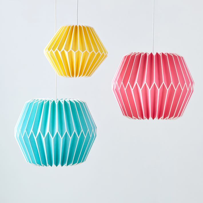 Geo paper lanterns from PB Teen