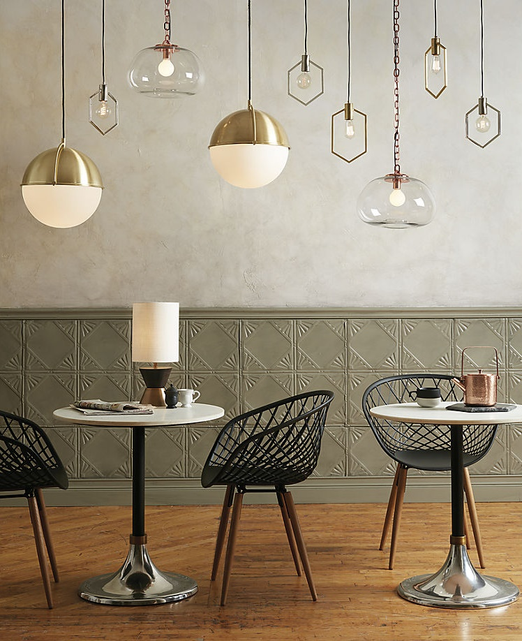 Geo pendant lights from CB2
