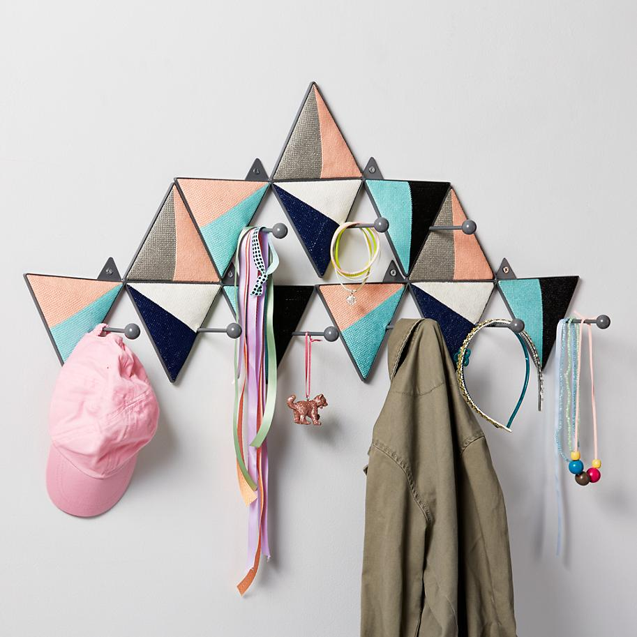 Geo wall hooks from The Land of Nod