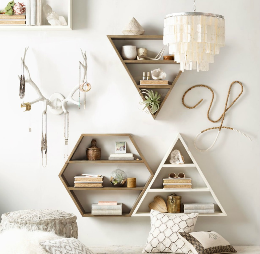 Geo wall shelving from rh teen decoist for Trending decor