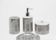 Geometric bathroom set from Zara Home