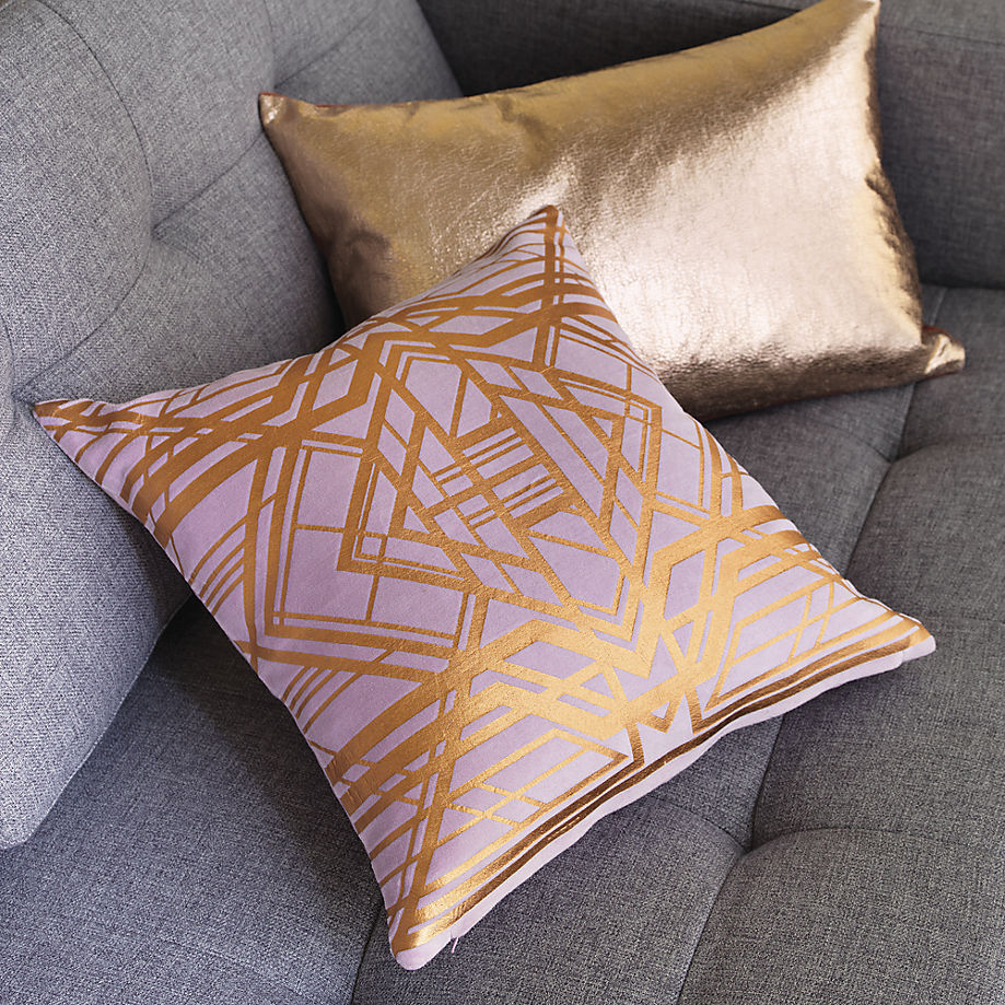 Geometric copper pillow from CB2