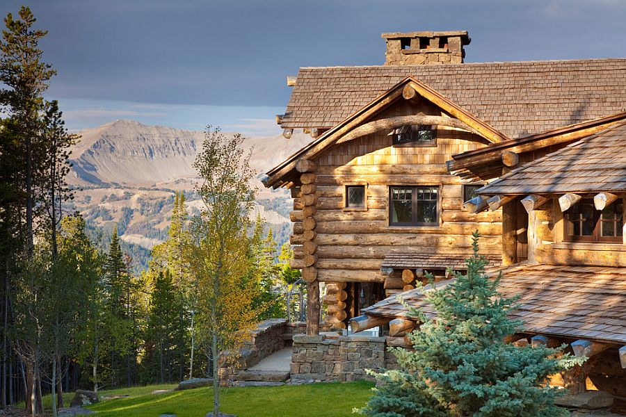 Gorgeous mountain home in Big Sky combines classic design with modern comfort