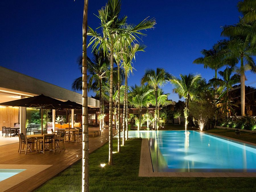Greenery around the pool also brings with it plenty of privacy