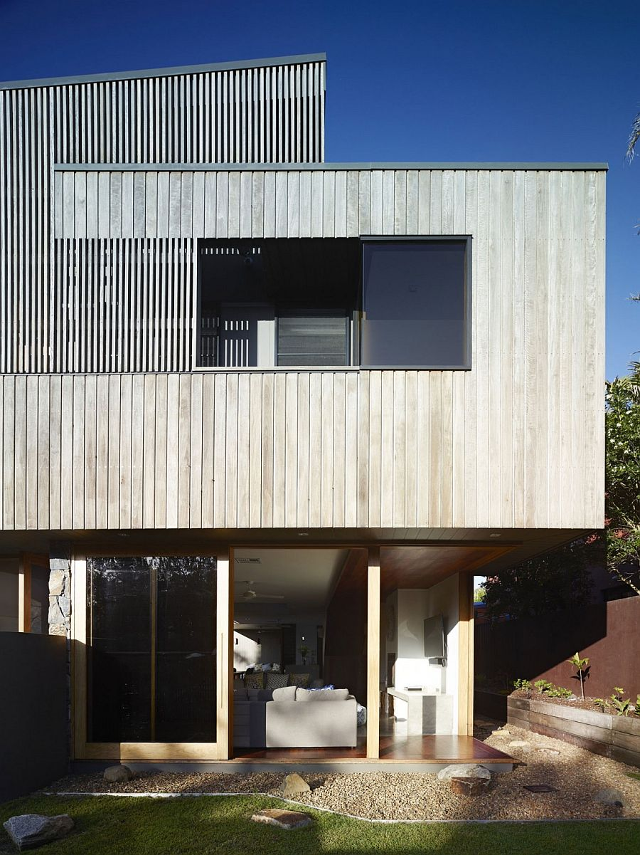 View in gallery Greying timber exterior of