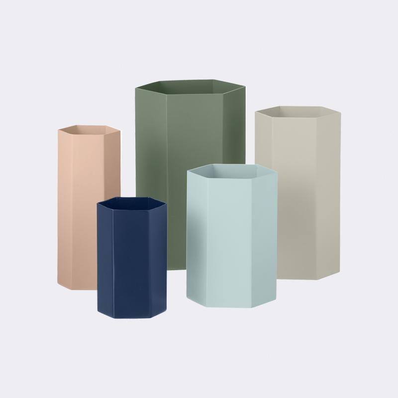 Hexagon vases from ferm LIVING