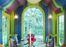 Hollywood-inspired dining room is a world in itself!