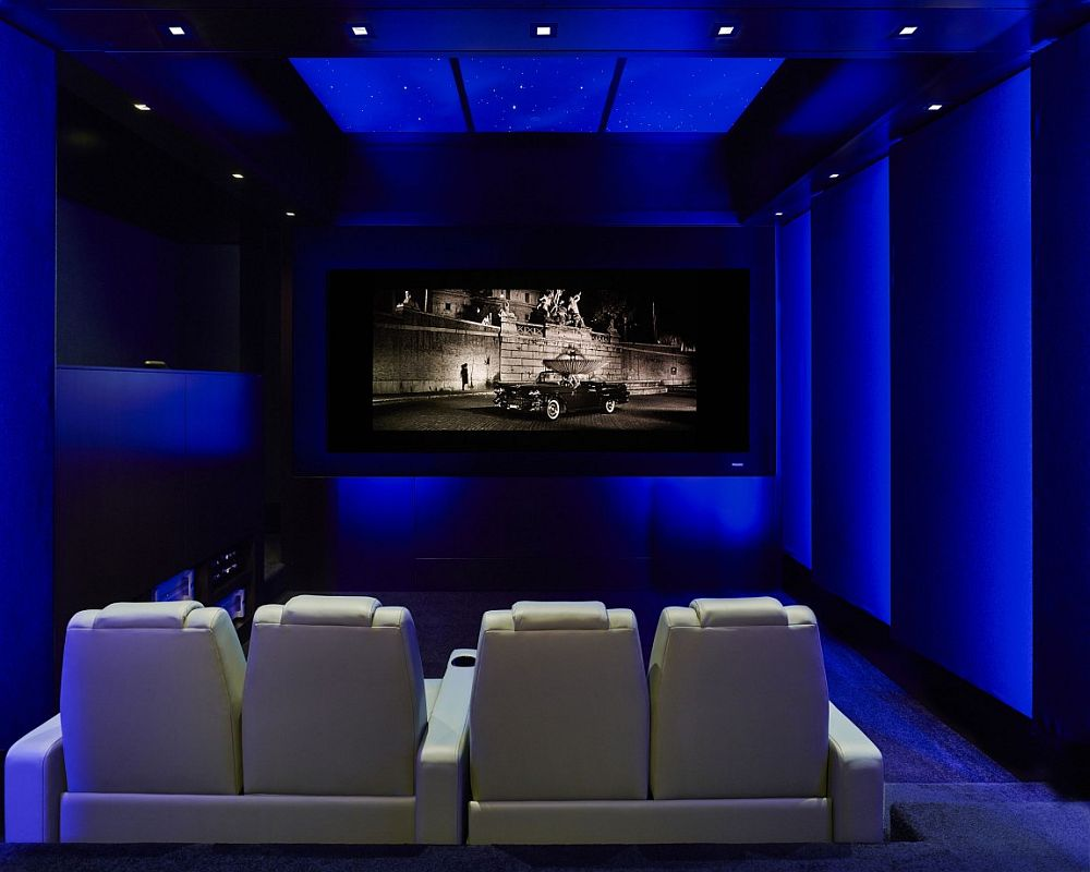 Home theater of the NYC apartment