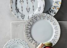 Ikat Thistle dinnerware from Anthropologie