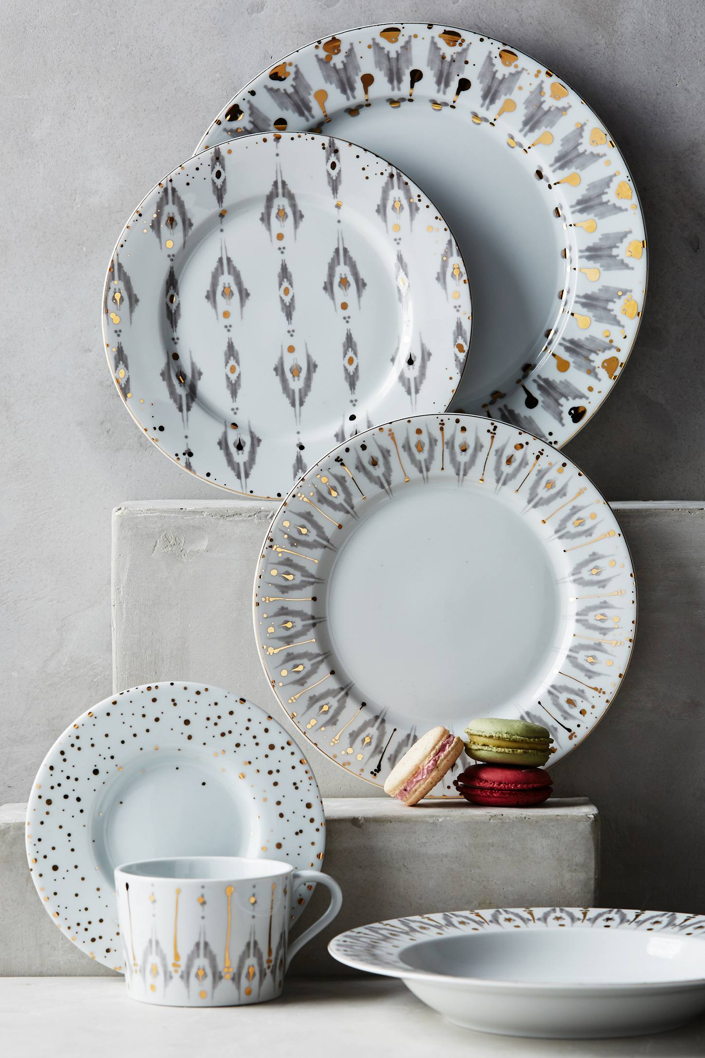 Ikat Thistle dinnerware from Anthropologie