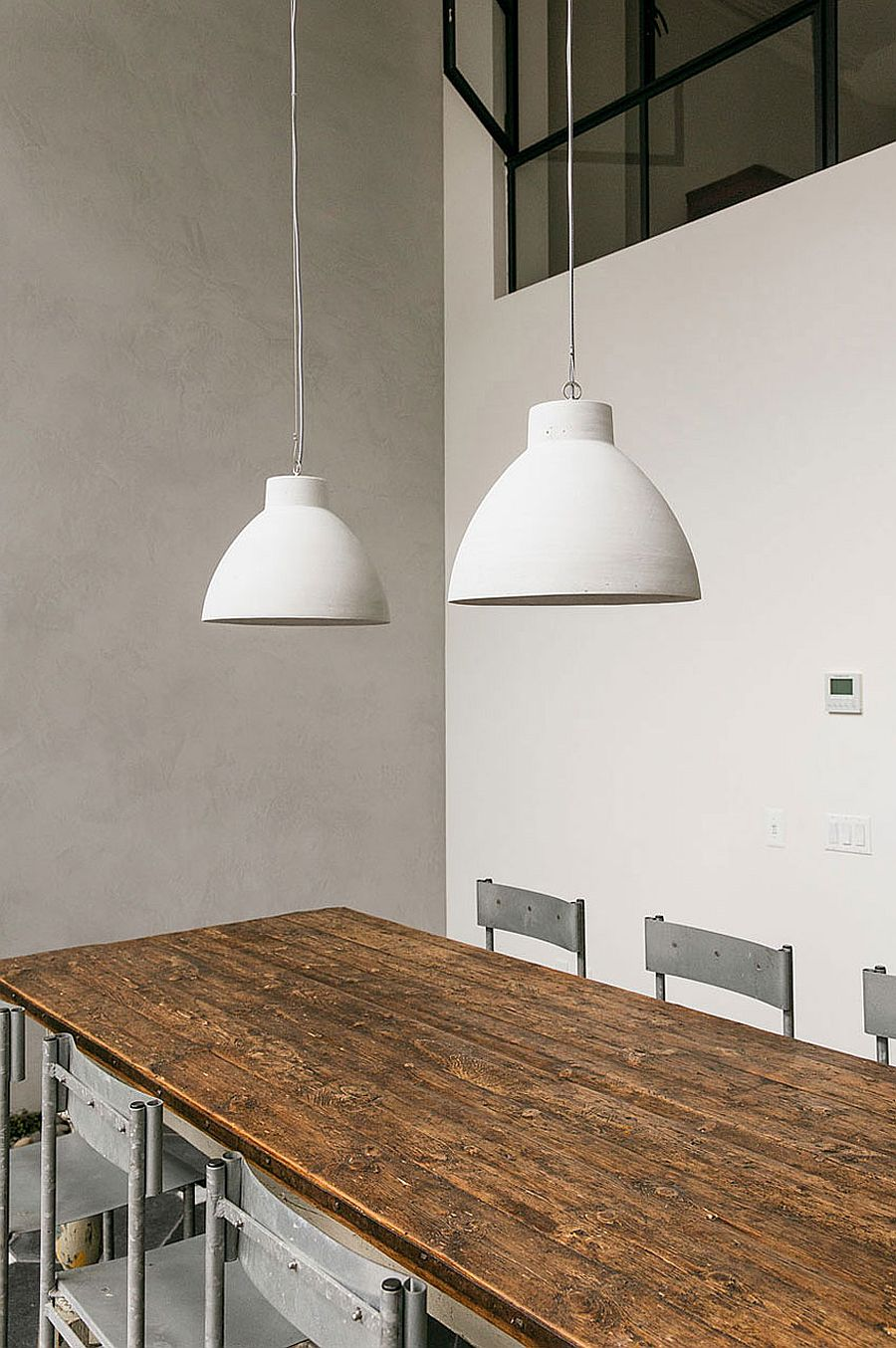Industrial chic style dining room decor