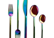 Iridescent flatware from ABC Carpet & Home