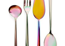 Iridescent serving utensils from ABC Carpet & Home