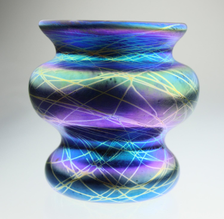 Iridescent vase by Eric W. Hansen