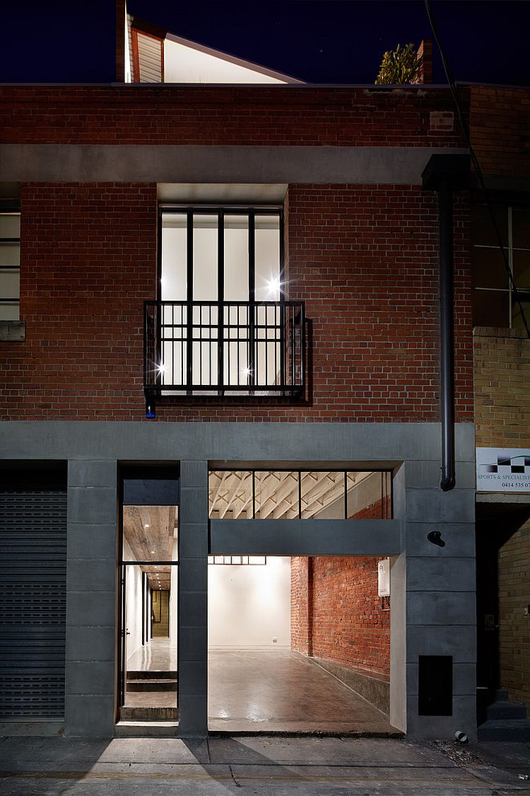 Juliet balcony is a popular choice for renovated industrial homes [Design: K+Architects]