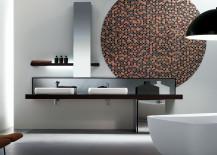 Kubik vanity from Nella Trevina 217x155 The Luxury Look of High End Bathroom Vanities