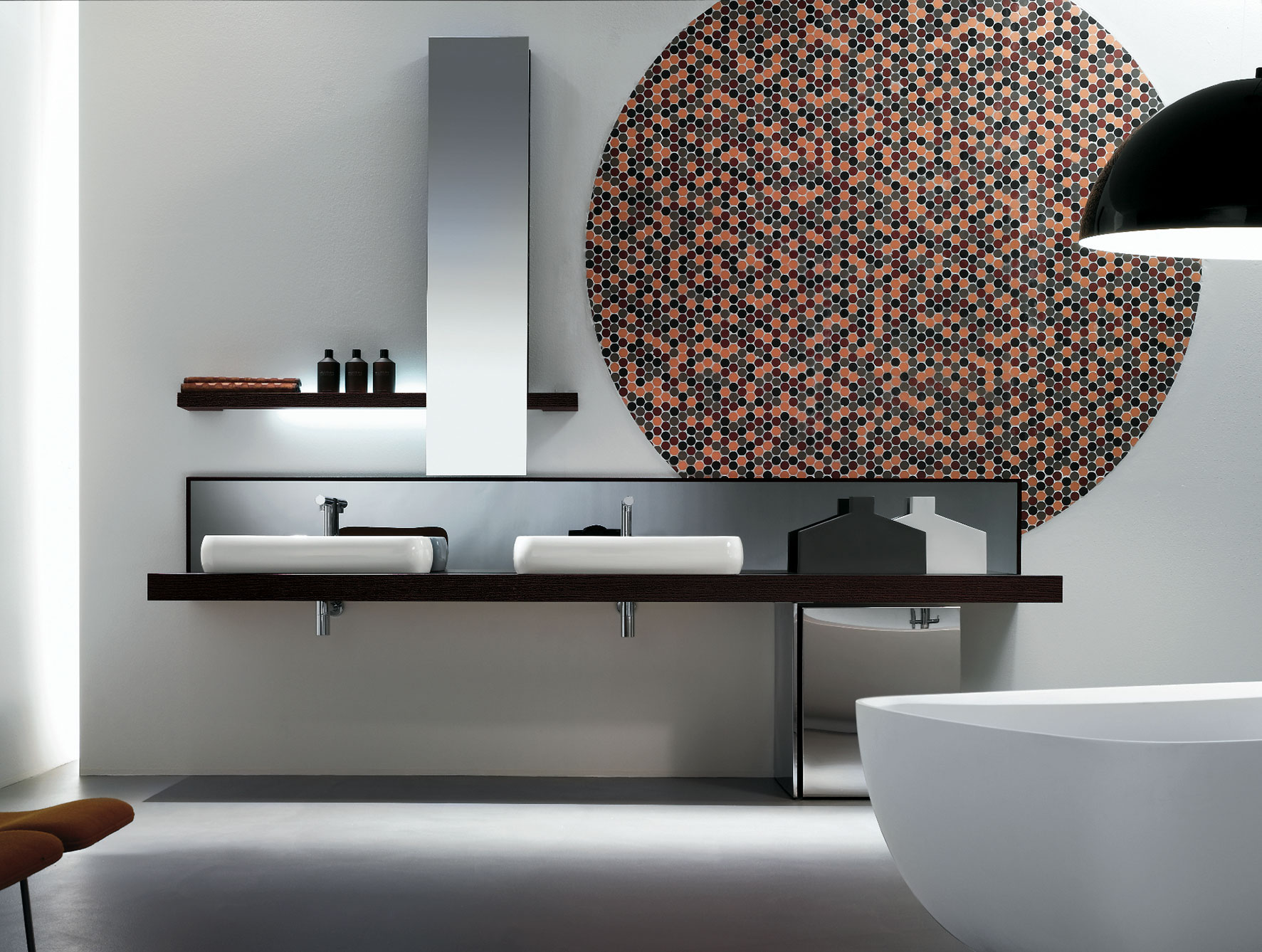 the luxury look of highend bathroom vanities - view in gallery kubik vanity from nella vetrina