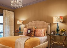 Lampshades add pattern to the gorgeous Victorian bedroom