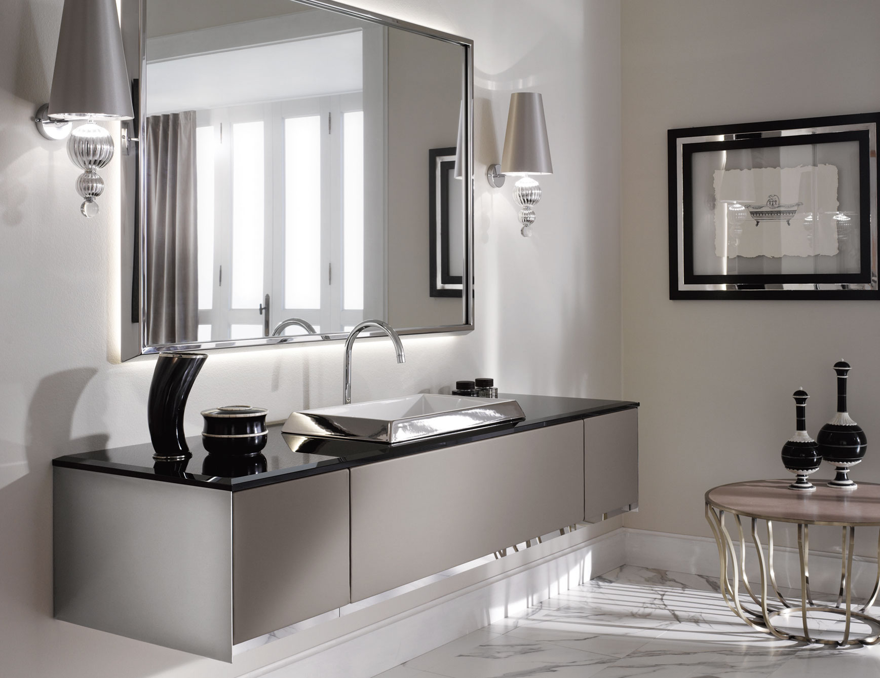 The luxury look of high end bathroom vanities for Bathroom vanities
