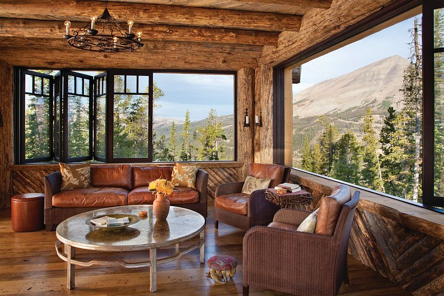 Amazing views meet timeless charm at rustic mountain cabin for Mountain home glass