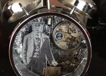 Masculine vintage altered alarm clock
