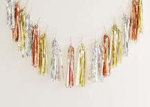 Metallic fringe garland from Urban Outfitters