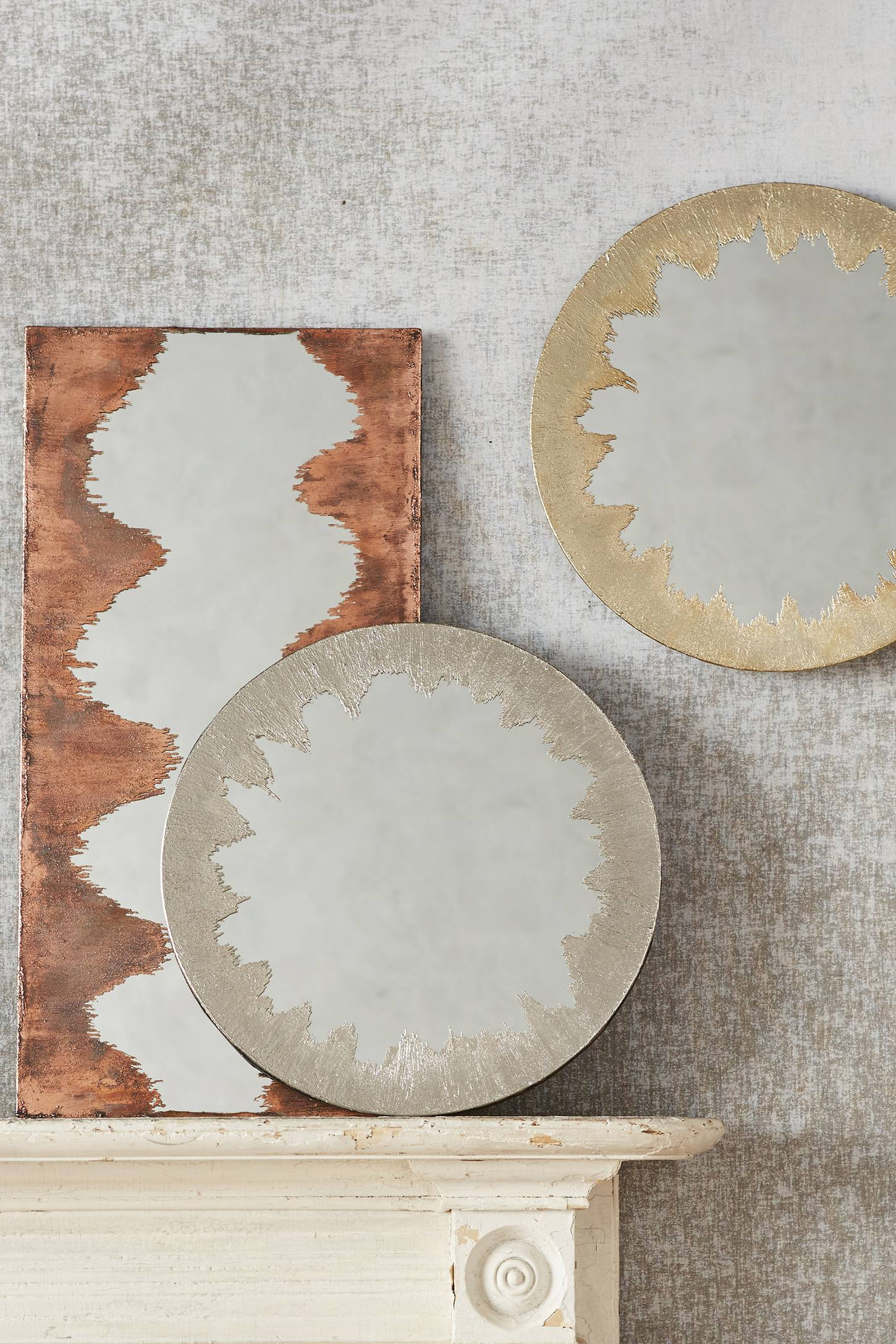 Metallic mirrors from Anthropologie