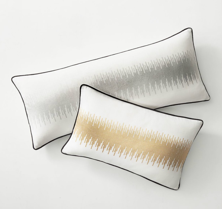 Metallic pillow covers from RH Teen