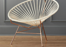 Modern chair with a copper base from CB2