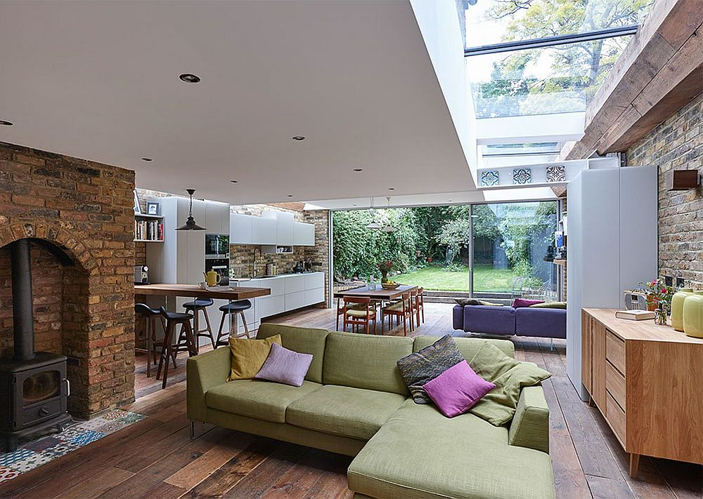 Semi detached london terrace house gets a bright modern for Floor plans for a semi detached house extension