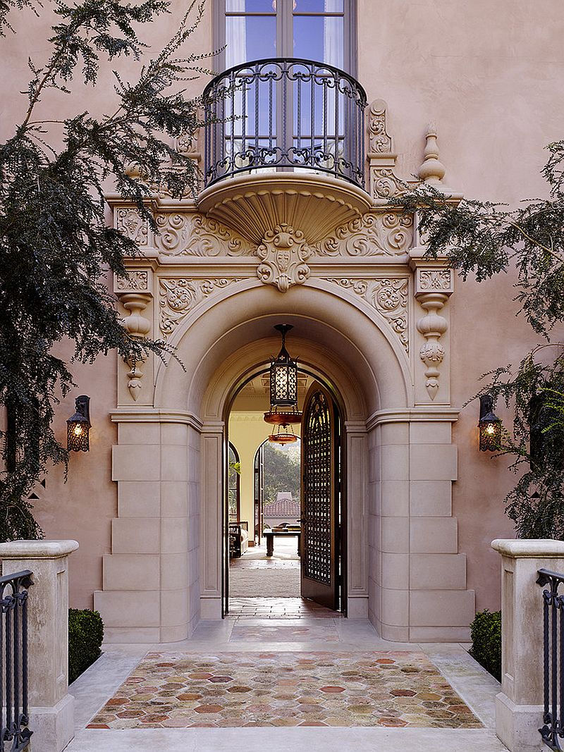 Mediterranean entry ideas an air of timeless majesty for Mediterranean style exterior
