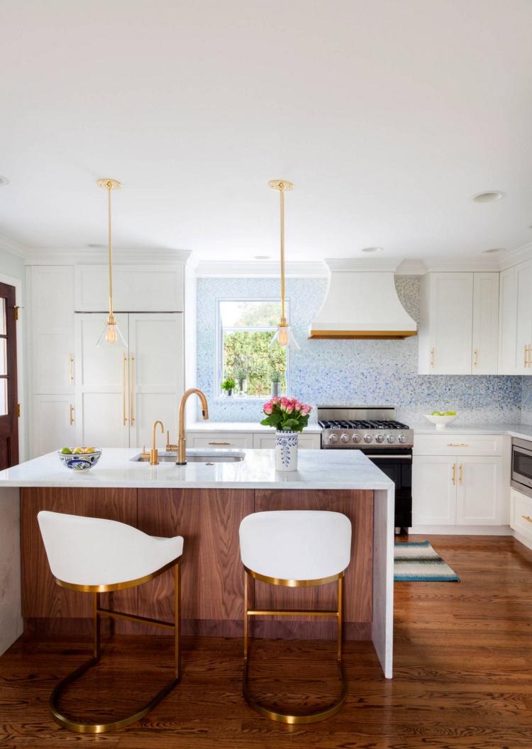 Modern kitchen filled with unique details