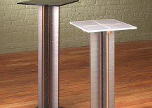 Modern pedestal tables from Stoneline Designs