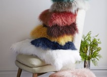 Mongolian lamb pillow covers from West Elm