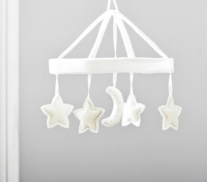 Moon and stars crib mobile from Pottery Barn Kids