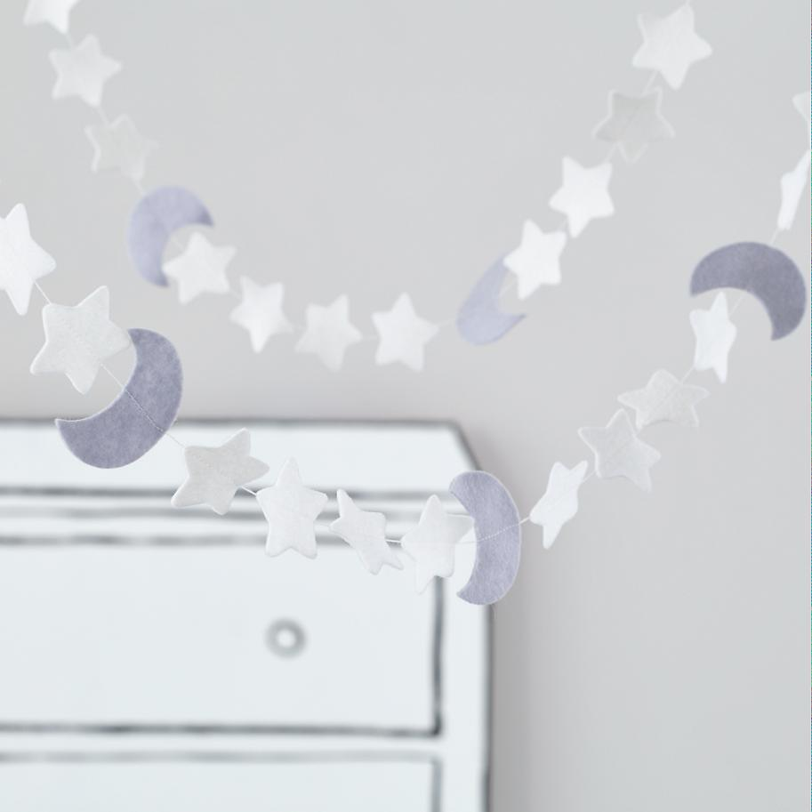 Moon and stars garland from The Land of Nod
