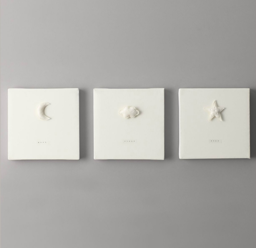 Moon, cloud and star wall art for the nursery