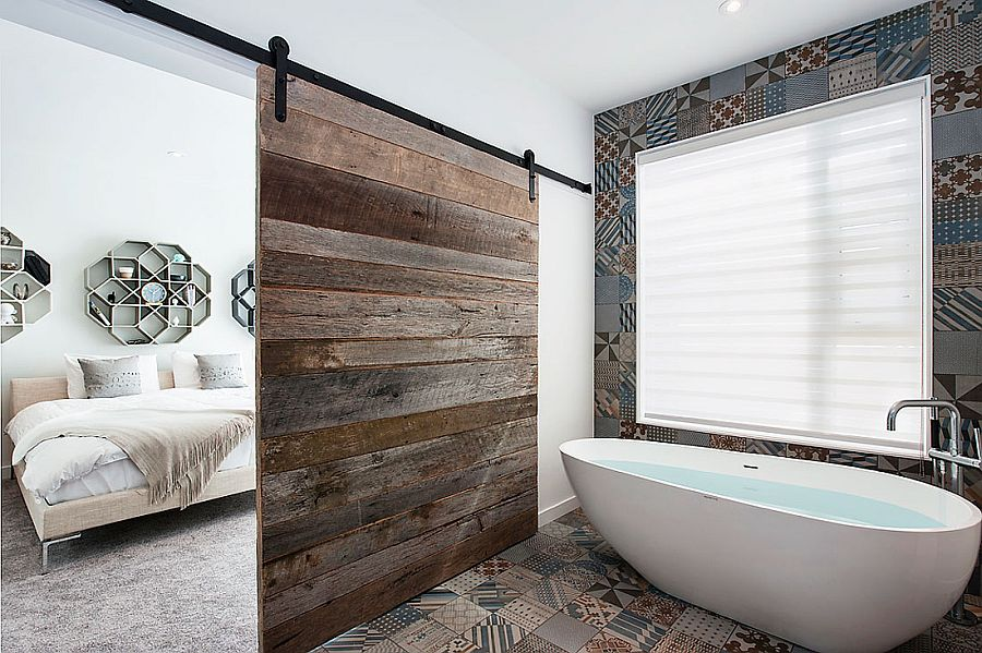 Moroccan-inspired tiles for the master bathroom