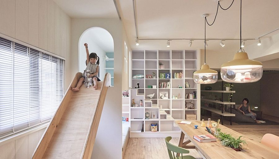 Movable slide brings fun times indoors