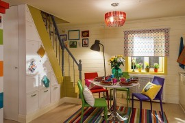 Multi colored chairs fashion a cheerful and snazzy dining room 270x180 Visual Feast: 25 Eclectic Dining Rooms Drenched in Colorful Brilliance!