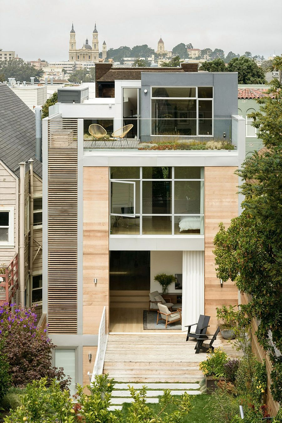 Fitty wun breezy and playful multi level family home in for Modern homes san francisco