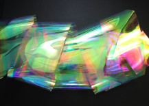 Multicolor plastic sheeting from Etsy shop Tavoos Arts
