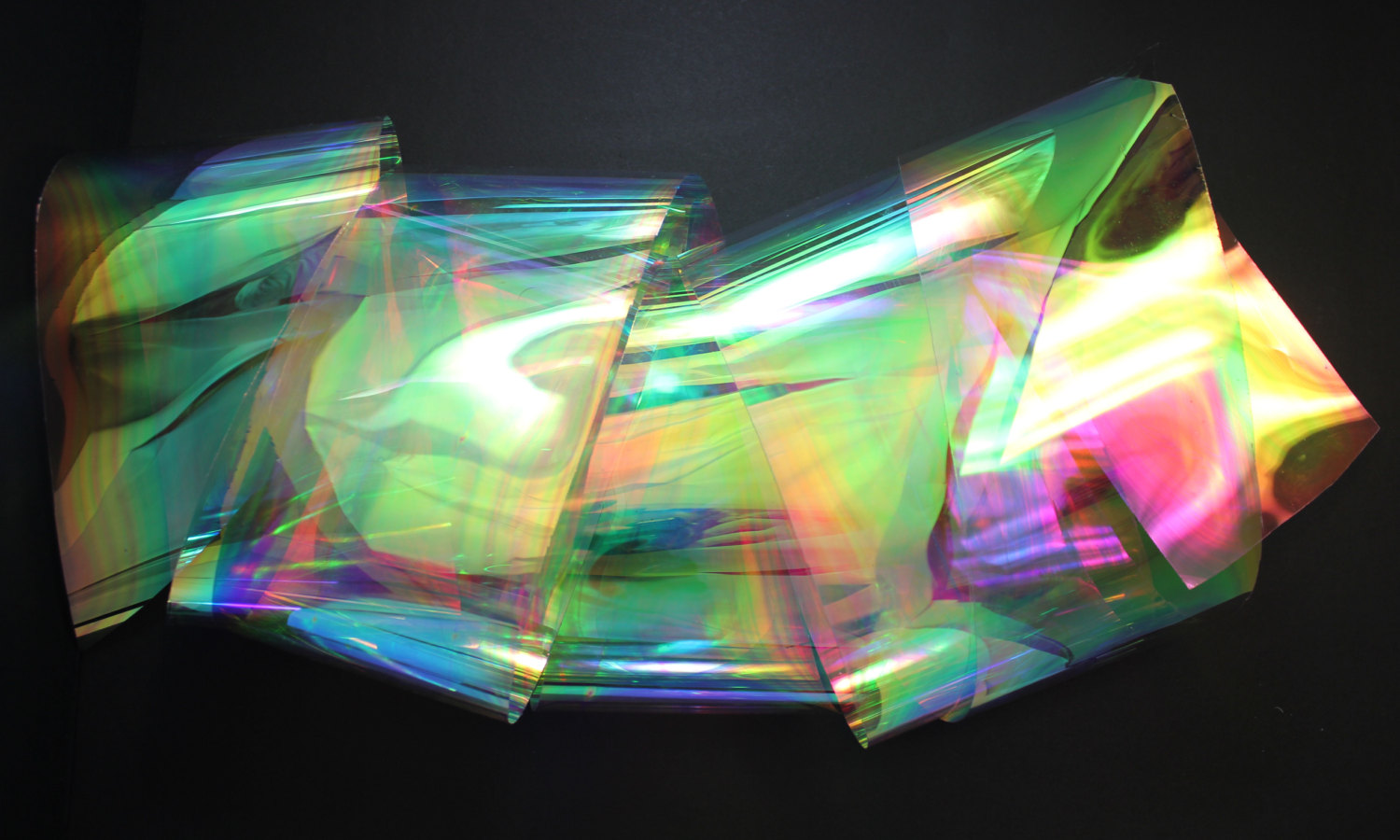 Wall Decoration Plastic Sheets : Rainbow shine iridescent and holographic decor