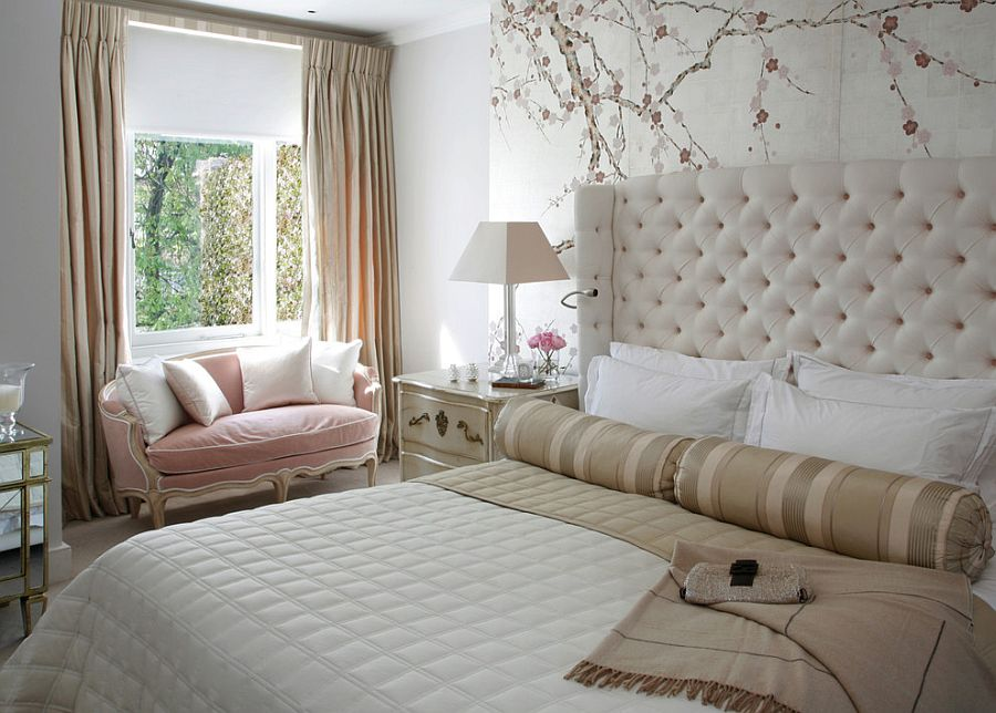 neutral color scheme allows the light pastel hues to shine through
