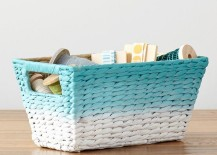 Ombre storage basket from PB Teen