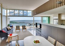 Open design of the living area makes most of the ocean view on offer 217x155 Energy Efficient Home in Sydney Maximizes Space and Ocean Views
